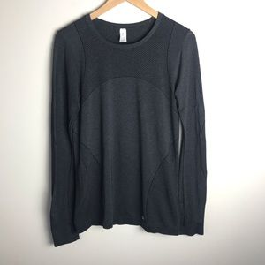 GAP Fit Motion Long Sleeve Fitted Shirt Grey Med